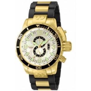 Pulseira de relógio Invicta 4899.01 Aço Banhado a ouro