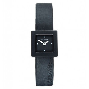 Pulseira de relógio Rolf Cremer 496207 Couro Preto 14mm