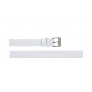 Rolf Cremer pulseira de relogio 497604 Couro Branco 12mm
