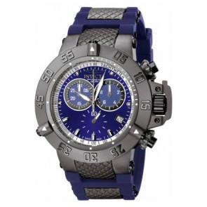Pulseira de relógio Invicta 5509.01 Aço/Silicone Azul