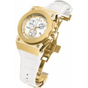 Pulseira de relógio Invicta 5574.01 Couro Branco