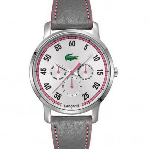Pulseira de relógio Lacoste 2000595 / LC-41-3-14-2230 Couro Roxo vermelho 20mm