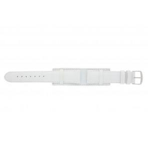 Pulseira de relogio 61325.11.20 Couro Branco 20mm + costura branca