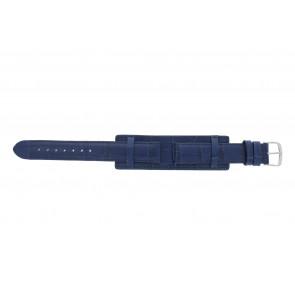 Pulseira de relogio 61325.55.16 Couro Azul 16mm + costura azul