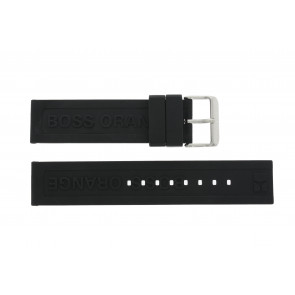Hugo Boss pulseira de relogio 659302252 / HB.116.1.29.2267 / 1512543 Borracha Preto 22mm
