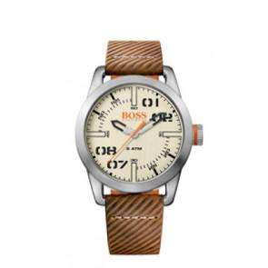 Pulseira de relógio Hugo Boss HB-291-1-14-2938 / 659302741 Couro Marrom 22mm