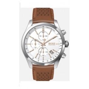 Pulseira de relógio Hugo Boss HB-297-1-14-2955 / 659302763 / HB1513475 Couro Conhaque 22mm