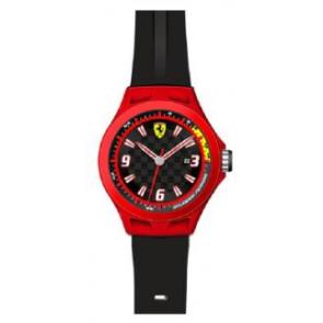 9f65031e589 Pulseira de relógio Ferrari SF-01-1-47-0005   689300004 Silicone Preto