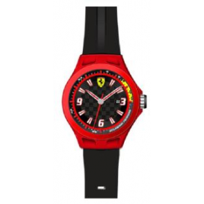 0a1ba967bc5 Pulseira de relógio Ferrari SF-01-1-47-0005   689300004 Silicone Preto