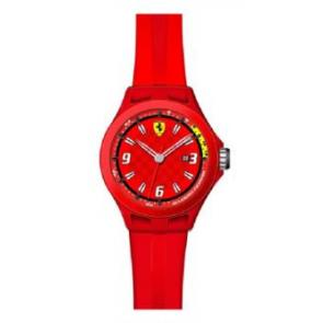 Pulseira de relógio Ferrari SF-01-1-47-0005 / 689300005 Silicone Vermelho