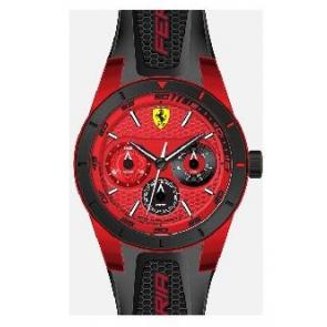 Pulseira de relógio Ferrari SF-28-1-44-0189 / 689300186 Silicone Preto
