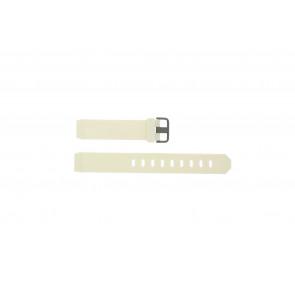 Jacob Jensen pulseira de relogio 700 Serie Borracha Branco 17mm