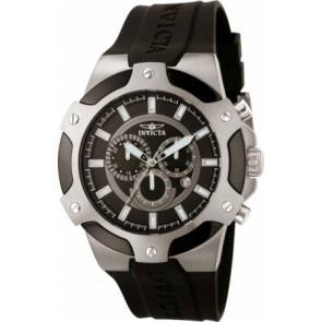 Pulseira de relógio Invicta 7342-SIGNATURE-II Borracha Preto 21mm