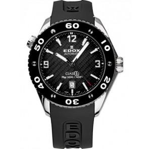Pulseira de relógio Edox 80061 Silicone Preto 22mm