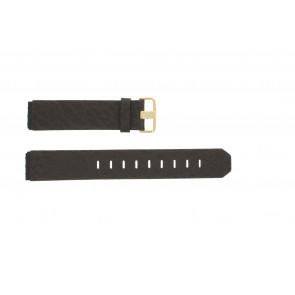 Pulseira de relógio Jacob Jensen 845 / 844 / 847 Couro Marrom 19mm