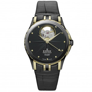 Pulseira de relógio Edox 85012 Couro Preto