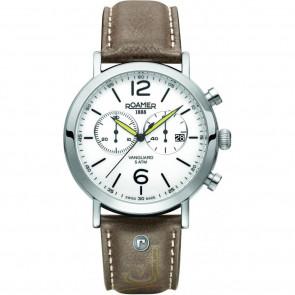 Pulseira de relógio Roamer 93595-41-24-09 Couro Marrom