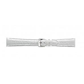 Morellato pulseira de relogio Amadeus G.Croc Glans U0518052017CR22 / PMU017AMADEC22 Pele de crocodilo Branco 22mm + costura padrão
