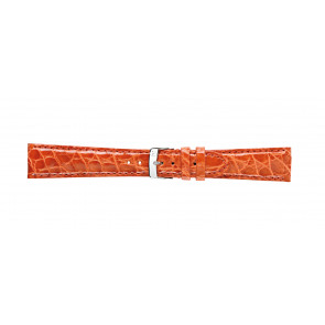 Morellato pulseira de relogio Amadeus G.Croc Glans U0518052086CR22 / PMU086AMADEC22 Pele de crocodilo Laranja 22mm + costura padrão
