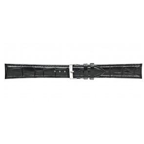 Morellato pulseira de relogio Bolle XL Y2269480019CR22 / PMY019BOLLE22 Couro croco Preto 22mm + costura padrão