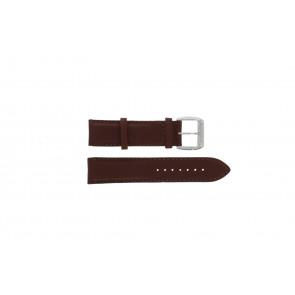 Pulseira de relógio Davis BB0231 Couro Castanho escuro 21mm