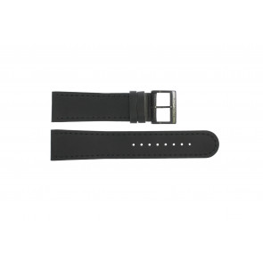 Pulseira de relógio Mondaine BM20054-W Couro Preto 22mm
