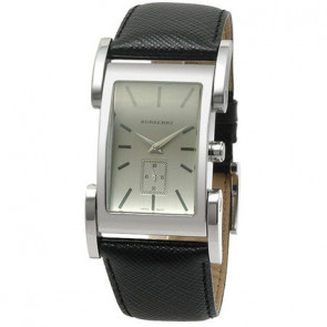 6b773a19acf Pulseira de relógio Burberry BU1100 Couro Preto 26mm