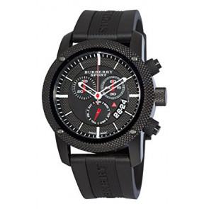 333a5cf083c Pulseira de relógio Burberry BU7701 Silicone Preto 24mm