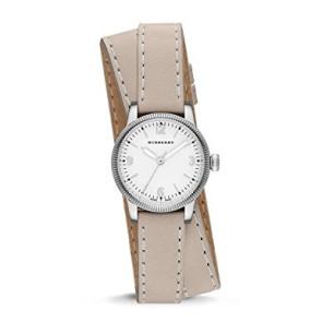 Pulseira de relógio Burberry BU7847 Couro Bege