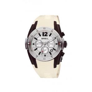 Pulseira de relógio Breil BW0235 Borracha Creme branco