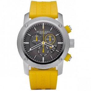 Pulseira de relógio Burberry BU7712 Silicone Amarelo
