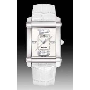 Pulseira de relógio Candino C4283 Couro Branco 22mm