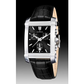 Pulseira de relógio Candino C4284/H Couro Preto 22mm