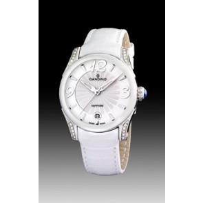 Pulseira de relógio Candino C4419-1 Couro Branco