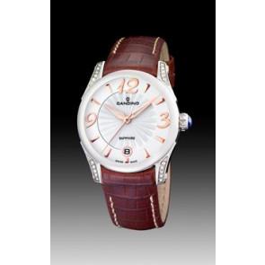 Pulseira de relógio Candino C4419-2 Couro Marrom