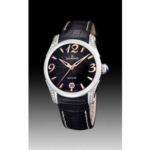 Pulseira de relógio Candino C4419-3 Couro Preto