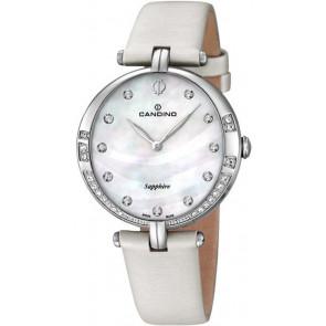 Pulseira de relógio Candino C4601 Couro Branco