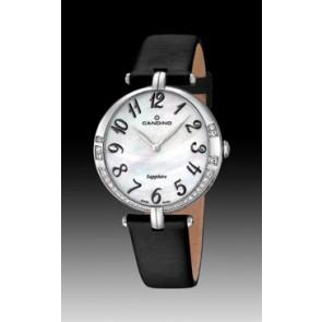 Pulseira de relógio Candino C4601-4 Couro Preto