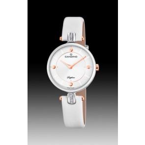 Pulseira de relógio Candino C4658-1 Couro Branco