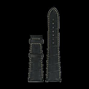 Pulseira de relógio Certina C610014032 XL Couro Preto 23mm