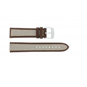 Pulseira de relógio Camel BC50990 / A667.5327LGPA Couro/Textil Marrom 22mm