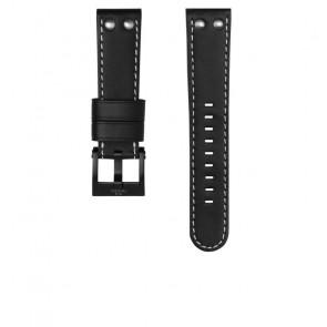 TW Steel pulseira de relogio CEB107 Couro Preto 22mm + costura branca