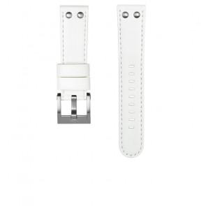 Pulseira de relógio TW Steel CEB108 Couro Branco 22mm
