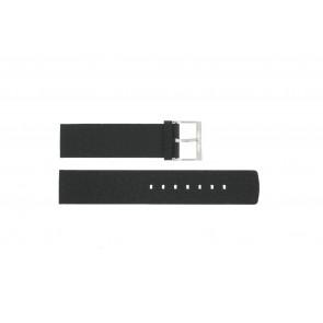 Pulseira de relógio Calvin Klein CK75-W08S Couro Preto 20mm