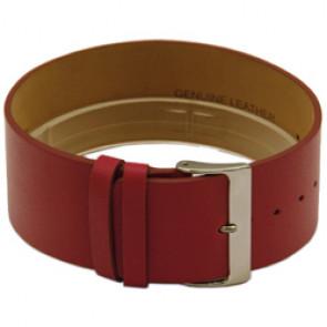 Uma peça bracelete em pele 28mm vermelho CCC.1037