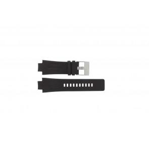 Pulseira de relógio Diesel DZ4128 Couro Castanho escuro 16mm