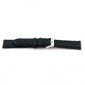 Pulseira de relogio F012 XL Couro Preto 18mm + costura padrão