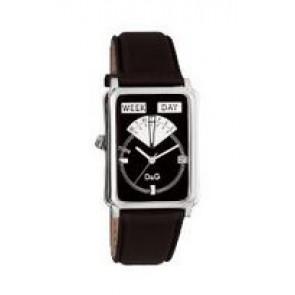 Pulseira de relógio Dolce & Gabbana DW0122 Couro Preto