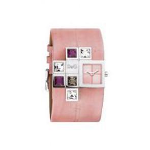 Pulseira de relógio Dolce & Gabbana DW0176 Couro Rosa
