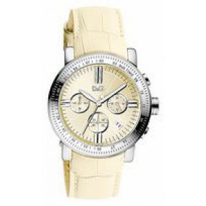 Pulseira de relógio Dolce & Gabbana DW0678 Couro Bege 22mm